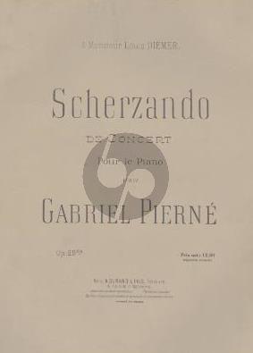 Pierne Scherzando de Concert Op. 29 bis Piano