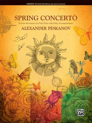 Peskanov Spring Concerto in 4 Movements for 2 Piano's 4 Hands (2 Copies Required for Performance)