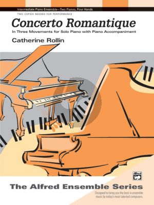 Rolin Concerto Romantique for Solo Piano with Piano accompaniment (3 Movements)
