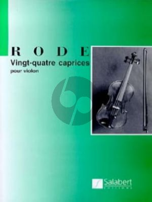 Rode 24 Caprices for Violin (edited by Lucien Capet)