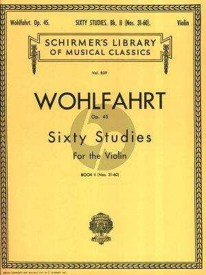 Wohlfahrt 60 Studies Op.45 Vol.2 Violin (No.31 - 60) (Violin with 2nd Violin Part) (edited by Rachel Kelly)