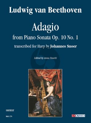 Beethoven Adagio from Piano Sonata Op. 10 No. 1 for Harp (arr. Johannes Snoer) (edited by Anna Pasetti)