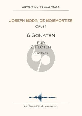 Boismortier 6 Sonaten für 2 Flöten ohne Bass Opus 1 Buch mit Playalong Cd