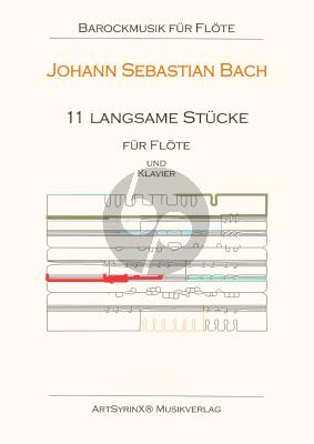 Bach 11 langsame Stücke für Flöte und Klavier (Set Flote und Klavierstimme)