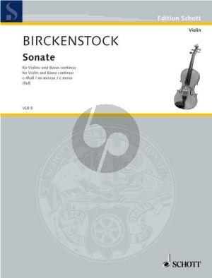 Birckenstock Sonate e-moll Violine und Bc (Hugo Ruf)