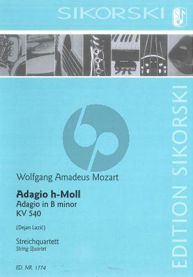 Mozart Adagio in B-minor for String Quartet (Score/Parts) (arr. Dejan Lazic)