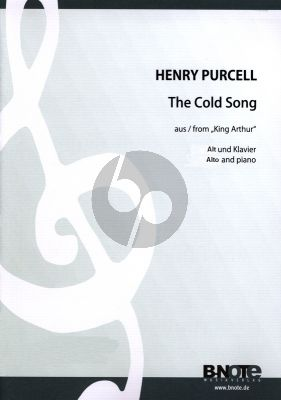 Purcell The Cold Song (What Power art Thou) from King Arthur Alto Voice and Piano