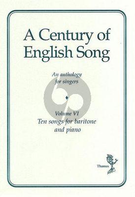 Album A Century Of English Song Volume 6 Bariton Voice and Piano (Bariton Voice and Piano)