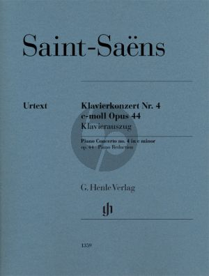 Saint-Saens Concerto No. 4 c-minor Op. 44 Piano and Orchestra (piano reduction) (edited by Peter Jost)