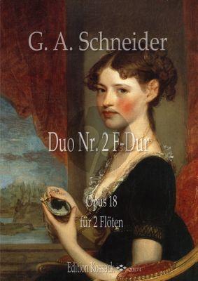 Schneider Duo F-Dur No.2 Op.18 für 2 Flöten (Part./Stimmen)