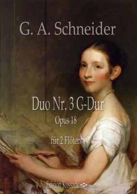Schneider Duo G-Dur No.3 Op.18 für 2 Flöten (Part./Stimmen)