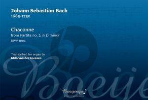Bach Chaconne, BWV 1004 from Partita No. 2 in D-minor Organ (arr. Iddo van der Giessen)