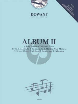 Dowani Album 2 Violin and Piano (8 easy Pieces) (Book with CD and Audio online)