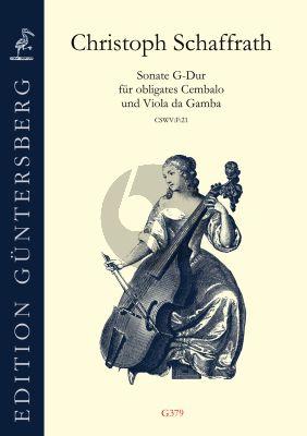 Schaffrath Sonate G-Dur für Obligates Cembalo und Viola da Gamba