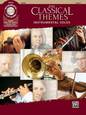 Album Easy Classical Themes Instrumental Solos for Violin (Bk-CD) (arr. Bill Galliford)