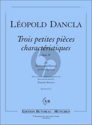 Dancla 3 petites pièces caractéristiques Op. 55 Violine und Klavier (1. Lage) (Tomislav Butorac)