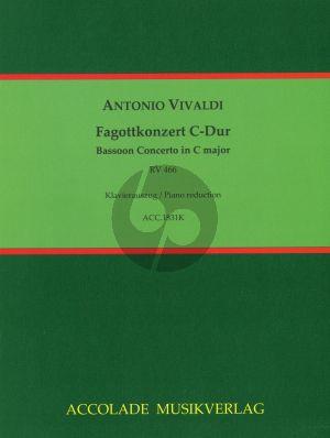 Vivaldi Konzert C-Dur RV 466 Fagott-Streicher-Bc (Klavierauszug) (Bodo Koenigsbeck)