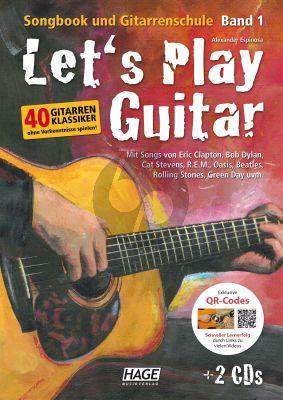 Espinosa Let's Play Guitar Songbook und Gitarrenschule Vol.1 mit 2 CDs und QR-Codes