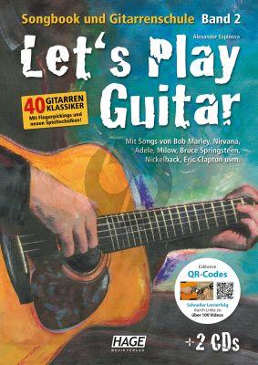 Espinosa Let's Play Guitar Band 2 (mit 2 CDs und QR-Codes) Songbook und Gitarrenschule