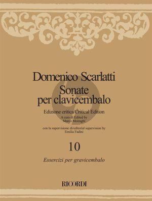 Scarlatti Sonate per Clavicembalo Vol. 10 Essercizi per gravicembalo (Marco Moiraghi) (Emilia Fadini)