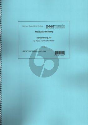 Weinberg Concertino Op. 42 für Violine und Streichorchester Partitur