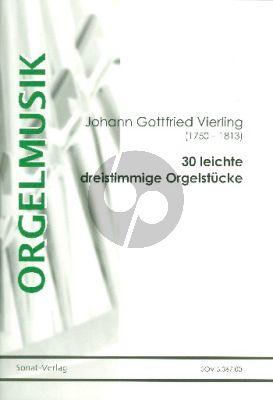 Vierling 30 leichte dreistimmige Orgelstücke