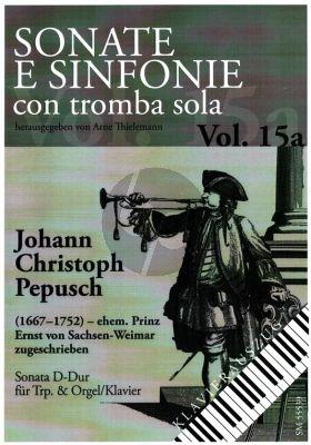 Pepusch Sonata D-Dur für Trompete und Orgel (Klavier) (arr. Arne Thielemann)