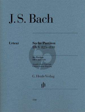 Bach 6 Partiten BWV 825 - 830 Piano (without fingering) (edited by Ullrich Scheideler)