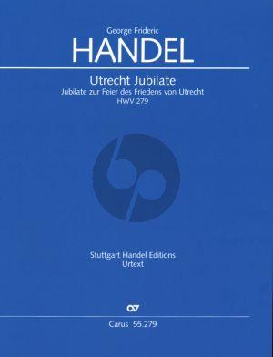 Handel Utrecht Jubilate HWV 279 Soli-Choir-Orchestra (Full Score) (Uwe Wolf)
