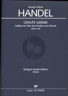 Handel Utrecht Jubilate HWV 279 Soli-Choir-Orchestra (Vocal Score) (Uwe Wolf)