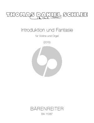 Schlee Introduktion und Fantasie für Violine und Orgel