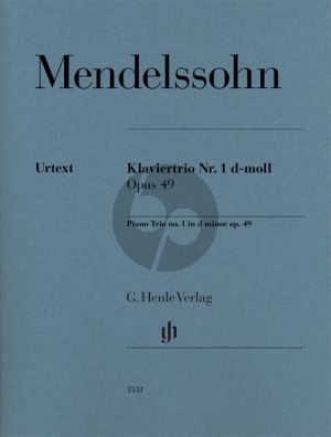 Mendelssohn Piano Trio No. 1 in d-minor Op. 49 Violin-Violoncello and Piano (Ernst Herttricht)