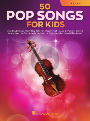 50 Pop Songs for Kids for Viola