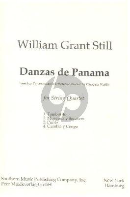 Grant Still Danzas de Panama String Quartet Score