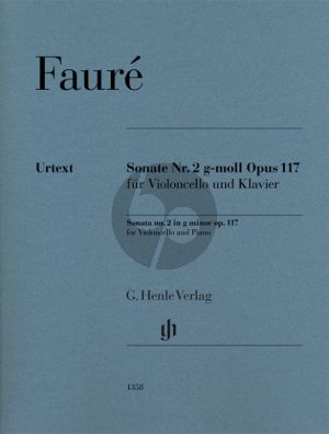 Faure Sonata No.2 g-minor Op.117 for Cello and Piano (edited by Fabian Kolb)