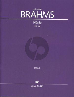 Brahms Nanie Op.82 SATB und Orchester Partitur (Rainer Boss)
