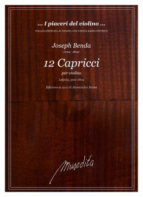 Benda 12 Capricci Violino (edited by Alessandro Bares)