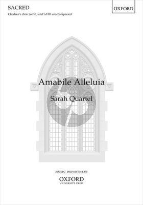 Quartel Amabile Alleluia SATB and children's choir / SSATB unaccompanied