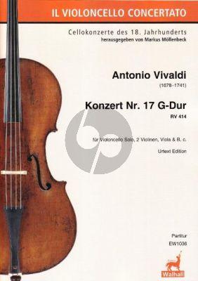 Vivaldi Konzert G-dur RV 414 Violoncello-Streicher-Bc (Partitur) (Markus Möllenbeck)