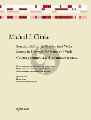 Glinka Sonate d-moll Klavier und Viola (2 Spielpartituren) (Igor Andreev)