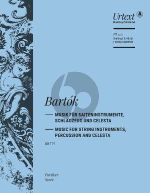 Bartok Musik für Saiteninstrumente, Schlagzeug und Celesta BB 114 (Partitur) (herausgegeben von Hartmut Fladt)