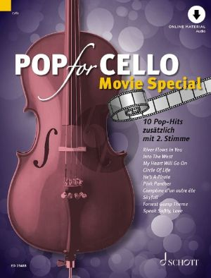 Pop for Cello - Movie Special 1 - 2 Cellos (Book with Audio online) (edited by Michael Zlanabitnig)