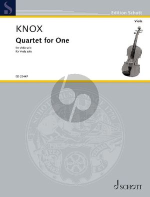 Knox Quartet for One for Viola solo
