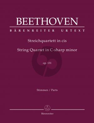 Beethoven String Quartet in C-sharp minor Op. 131 (Parts) (edited by Jonathan Del Mar)