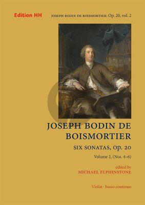 Boismortier 6 Sonatas Op. 20 Vol. 2 No. 4 -9 Violin and Bc (edited by Michael Elphinston)