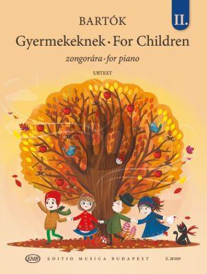 Bartok For Children Vol. 2 Piano solo (based on Slovak Folk Tunes) (edited by Vera Lampert and László Vikárius)