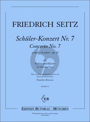 Seitz Schüler-Konzert No. 7 a-moll Op. 25 für Violine und Klavier (Tomislav Butorac)
