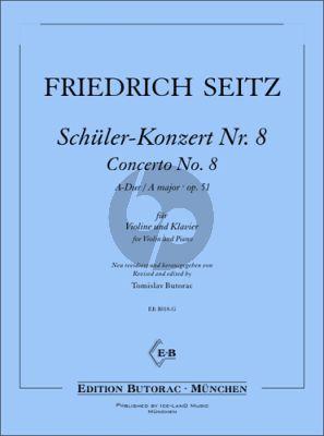 Seitz Schüler-Konzert No. 8 A-Dur Op. 51 für Violine und Klavier (Tomislav Butorac)