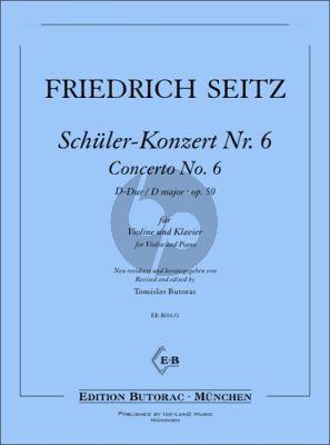 Seitz Schüler-Konzert No. 6 D-Dur Op. 50 für Violine und Klavier (Tomislav Butorac)