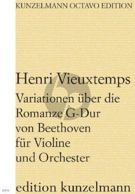 Vieuxtemps Variationen über die Romanze G-Dur von Beethoven Violine und Orchester (Partitur) (Olaf Adler)